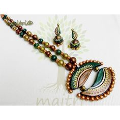 Shop Terracotta Jewelry - Exclusive 4 - (brown, Green, Gold) by Maitri Crafts online. Largest collection of Latest  online. ✻ 100% Genuine Products ✻ Easy Returns ✻ Timely Delivery