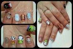 Disney Toy Story Gelish Nail Art Gelish Nails, Disney Toys, Toy Story, Fingers, Nail Art, Fancy, Beauty, Nail Arts, Beauty Illustration
