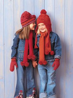 Knitting Projects: Keep your kids cozy & warm with these adorable, handmade cold-weather accessories. Get the complete knitting instructions! #knitting