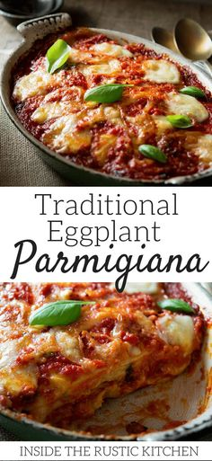 Parmigiana di Melanzane - eggplant parmigiana. An authentic Italian recipe made with fried eggplant/aubergines, tomato sauce, mozzarella and parmesan. Utterly delicious and comforting and so simple to make, a real family favourite. Authentic Italian recip