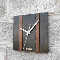 Woodworking Projects Diy, Diy Projects, Modern Clock, Wood Clocks, Wooden Lamp, Inspiration, Home Decor, Rustic Wall Clocks, Rustic Walls