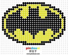 Batman logo perler bead pattern