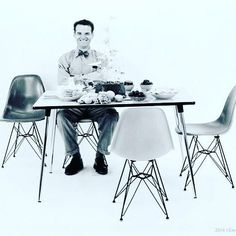 HBD to Charles Eames.  Thankful for all you did in the 20th century, all remains relevant to this day.  #eames #eiffelchair