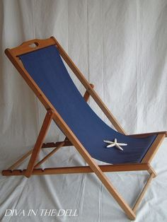 Peruvian Playero--I want these!  Vtg Wooden Folding Sling Back Beach Deck Pool by DivaInTheDell, $175.00
