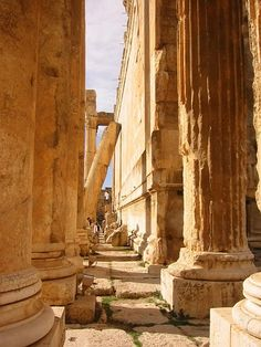 Temple of Bacchus in Lebanon - some of the most spectacular ruins I've seen, including Rome