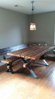 indoor table and bench, beautiful!