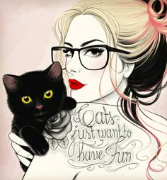 Cats just want to have fun! Art Print by Tati Ferrigno   Society6