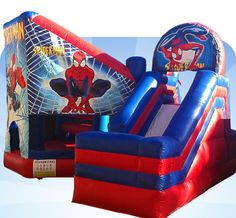 Spiderman Combo Jumping Castle for Hire Marquee Hire, Party Hire, 5th Birthday, Baby Car Seats, Spiderman, Castle, Children, Disney, Spider Man