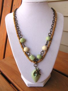 Sand in My Toes Necklace by swallowtailjewellery on Etsy