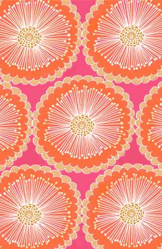 Fun pink and orange flowers