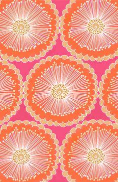 Fun pink and orange flowers