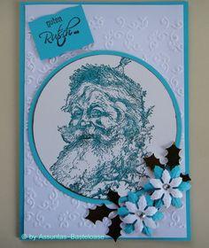 Wunderschöne,  nostalgische Weihnachtskarte mit einem Nikolaus Handmade, Xmas Cards, Crafting, Nice Asses, Hand Made, Handarbeit