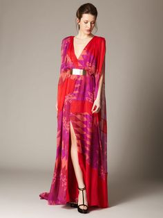Silk Chiffon Belted Sail Gown by Matthew Williamson on Gilt...slightly gorgeous!