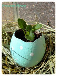 Uovo trasformato in vasetto - idee Pasqua- Egg jar - Easter ideas - #Easter #Pasqua #Eggs
