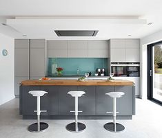Contempoary grey Kitchen, Belfast, Northern Ireland
