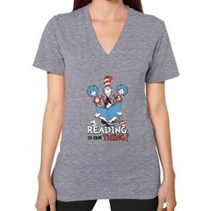 Read Across America V-Neck (on woman) Shirt