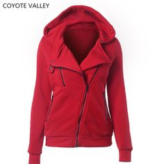 COYOTE VALLEY 4 color New Autumn&winter Women hoodies sweatshirts zipper V Neck Long Sleeve Warm Female Hoodies Sudaderas Mujer #Affiliate