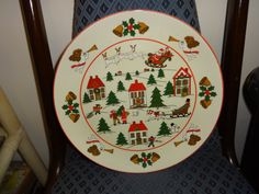 JAPANESE CHRISTMAS PLATE  Made in Japan  10 by RetroAlleyOakville