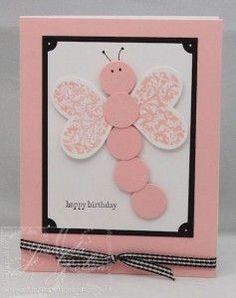 ook leuk als geboorte kaartje Also nice for a baby girl. punch art