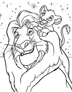Walt Disney Characters Photo: Walt Disney Coloring Pages - Mufasa & Simba Lion Coloring Pages, Coloring Pages For Boys, Cartoon Coloring Pages, Free Coloring, Coloring Books, Coloring Pictures For Kids, Disney Tattoos, Disney Coloring Pages Printables, Disney Colouring Pages