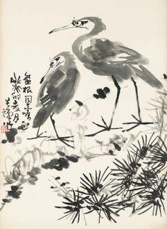 Art pictures - Artist Li Kuchan Antique Paint, Artist Signatures, Old Art, Types Of Art, New Pictures, Modern Art, Stencils, Sculptures, Canvas Prints