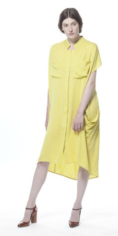 Runway2Street // Breezy Summer // 7 Perfect Day Dresses You Need This Summer : No. 1 Shirt Dress.  SCHAI Ultime Silk Shirt Dress in Sprout