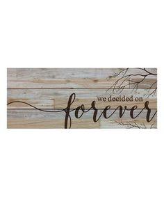 'Forever' Wall Art