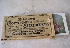 Antique Stereograph Card Set 25 Views Original Box Uncle Sam's Battleships Victorian Era Stereoview Cards Stereoscope ca. 1900 by cynthiasattic on Etsy