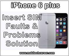 Apple iPhone 6 Plus 'Insert SIM' No SIM Problems & Solution http://ift.tt/2xHl5Zm
