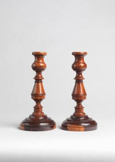 Robert Young Antiques - Collection. Fine Pair of Table Candlesticks #FolkArt