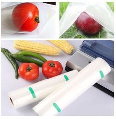 Food Saver Bags Textured Vacuum Sealer 2 PC 12M Meter Storage Rolls Vacuum Sealer, Kitchen Items, Plastic Cutting Board, Rolls, Texture, Storage, Bags, Food, Surface Finish