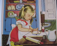 'We help Mommy' (Golden Book Series) by American illustrator Eloise Wilkin (1904-1987). I have this book from childhood!!