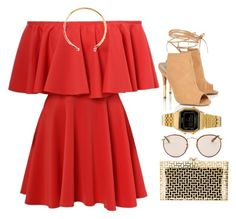 Fever ♠ by melanie-pacheco on Polyvore featuring moda, Lipsy, Charlotte Olympia, Casio and Ray-Ban