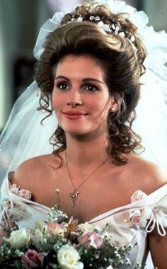 "Julia Roberts wedding dress in"" Steele magnolias."""
