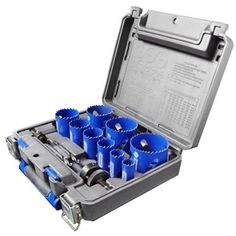 Kobalt 13-Piece Bi-Metal Hole Saw Kit. $69.97. Mounts on a power drill. Cuts wood and metal. Largest hole is 2.5-inch diameter.