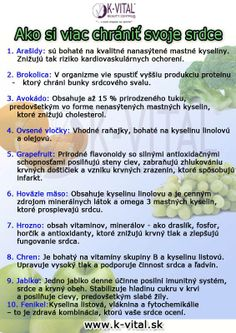 ako si chrániť srdce Dieta Detox, Health Tips, Food And Drink, Health Fitness, Entertaining, Drinks, Plants, Drinking, Beverages