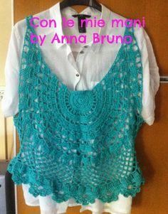 Con le mie mani by Anna Bruno: Canotta crochet