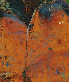 The subtle colorings and textures of rust