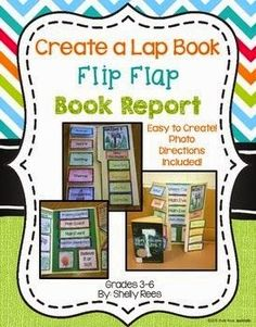 Flip Flap Book Report Lap Book Book Report Projects, Book Projects, Class Projects, Reading Lessons, Reading Strategies, Reading Groups, Guided Reading, Book Report Templates, Traditional Books
