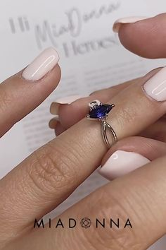 The Karina Engagement Ring can be made with any size or shape center stone, and has a gorgeous twisted plain metal band that goes 3/4ths of the way around the ring. Modern Engagement Rings, Gemstone Engagement Rings, Engagement Ring Settings, Lab Created Diamonds, Metal Bands, Sapphire, Shape, Gemstones, Jewelry