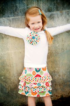 Lexi Ruffle Skirt Pattern . this would be so cute in Christmas prints.