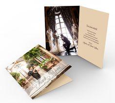 Folding Printable Wedding Thank You Card