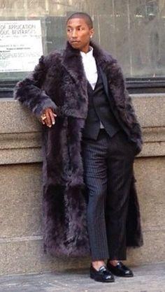 mens real fur coat - Google Search