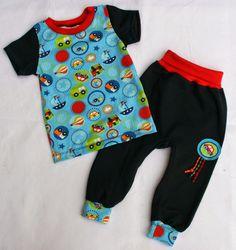 Babyset mit Hose nach einem Gratis-Schnittmuster