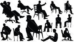 Man Sitting Silhouette Vector (12)