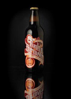 Punk´n Brewster by Martin Schmetzer, via Behance    #drinks #beer #bootle #type #brush