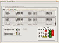 Trazabilidad y Calendario por empleado. Gestión laboral Sage Murano.