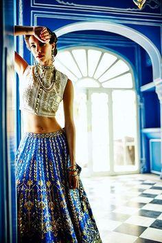 Anita Dongre lehenga | Vogue Wedding Show 2014: