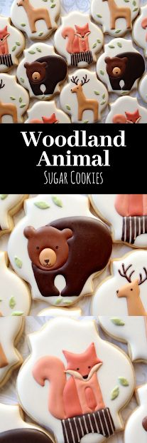 Elegant Woodland Animal Cookies with Red Fox #affiliate