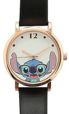 Disney LILO & STITCH Nerdy Stitch WATCH Nerd Glasses NIB New Wristwatch